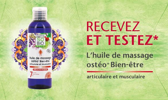 L'huile de massage Ostéo+
